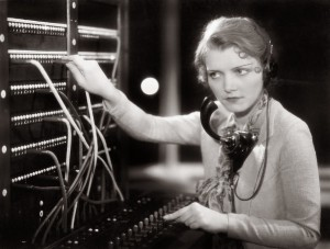 Women Telephone Vintage